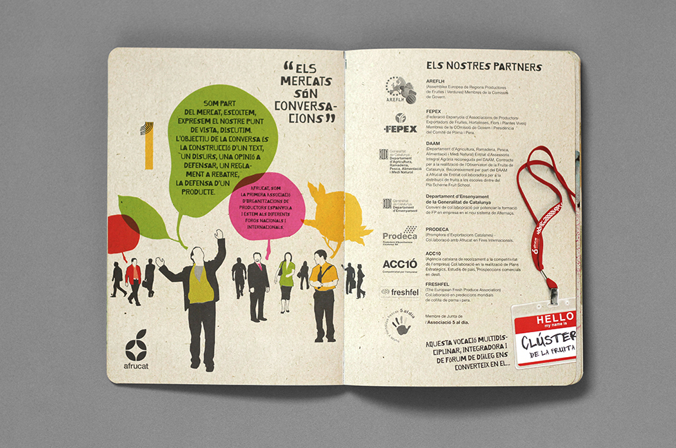 afrucat_brochure_graphic_design_corporate_brand_illustration_inside_page_fruits_people_composite