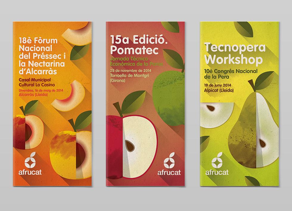 diseño grafico triptico frutas