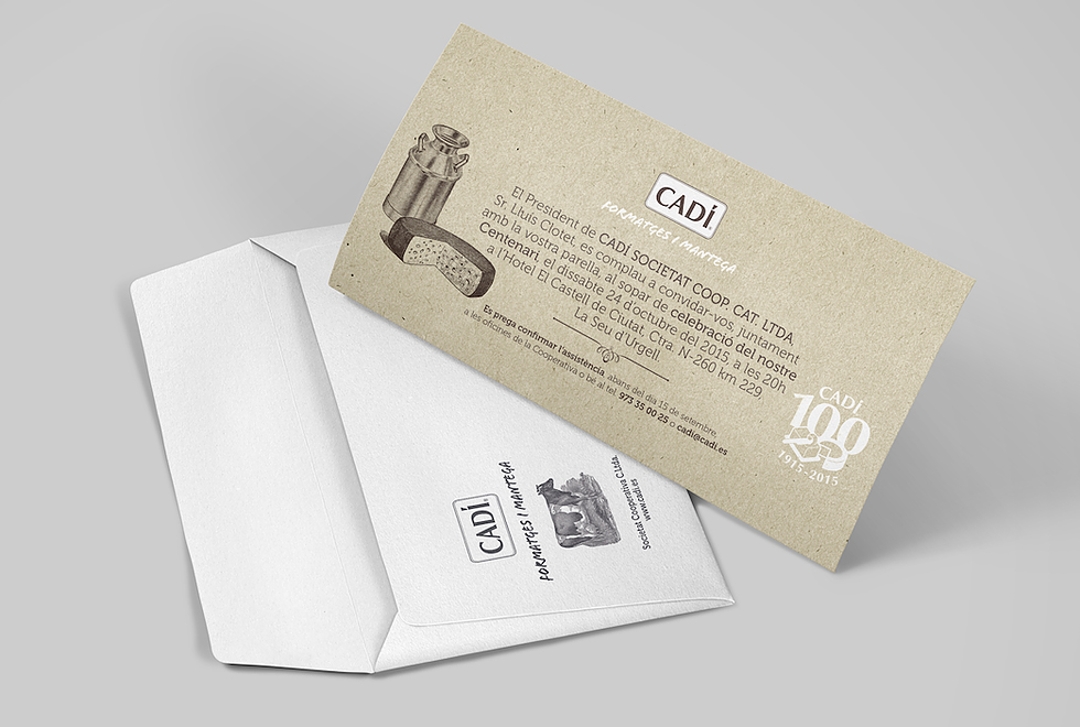 cadi_100anys_envelop_card_invitation_100_years_aniversary_corporate_cow_cheese_milk_graphic_design_