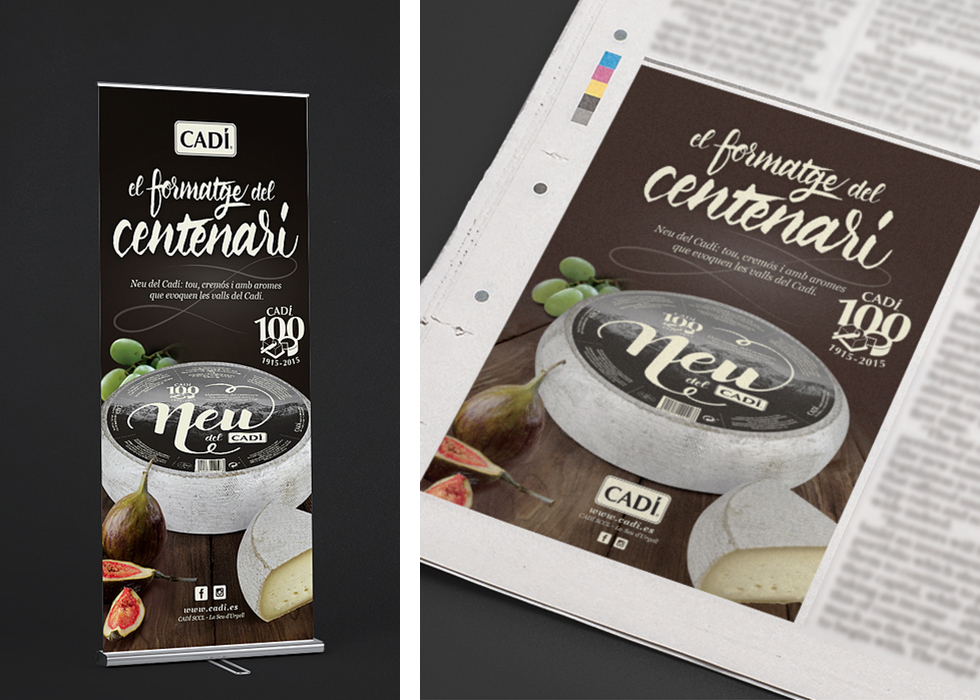 cadi_neu_snow_cheese_branding_packaging_spanish_graphic_design_advertising_newspaper
