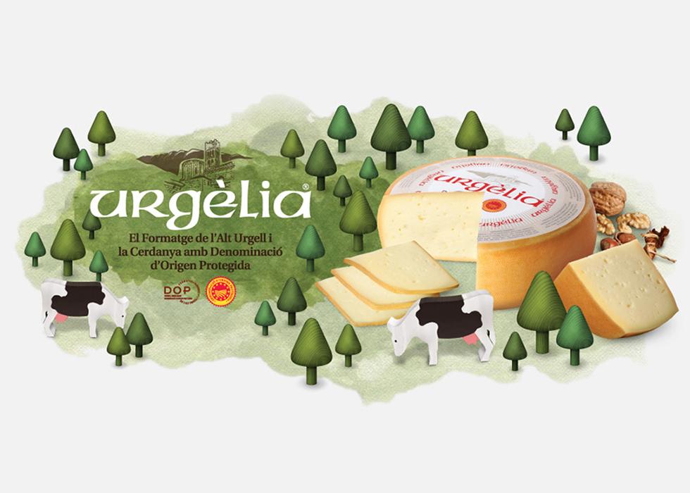 diseño campaña publicitaria queso
