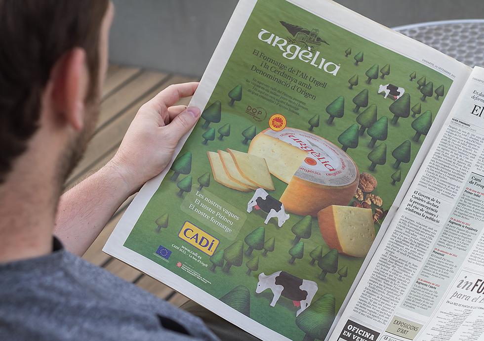 cadi_urgelia_cheese_branding_packaging_graphic_design_advertising_newspaper