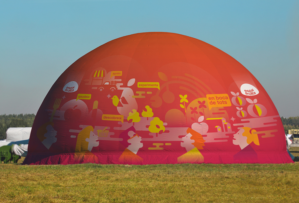 espaifruita_afrucat_dome_planetarium_graphicdesign_industrial_fineart_logotype_branding_background_red_knowledge